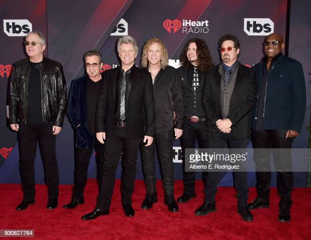 Bon Jovi arrives at the 2018 iHeartRadio Music Awards which broadcasted live on TBS TNT and truTV at The Forum on March 11 2018 in Inglewood...