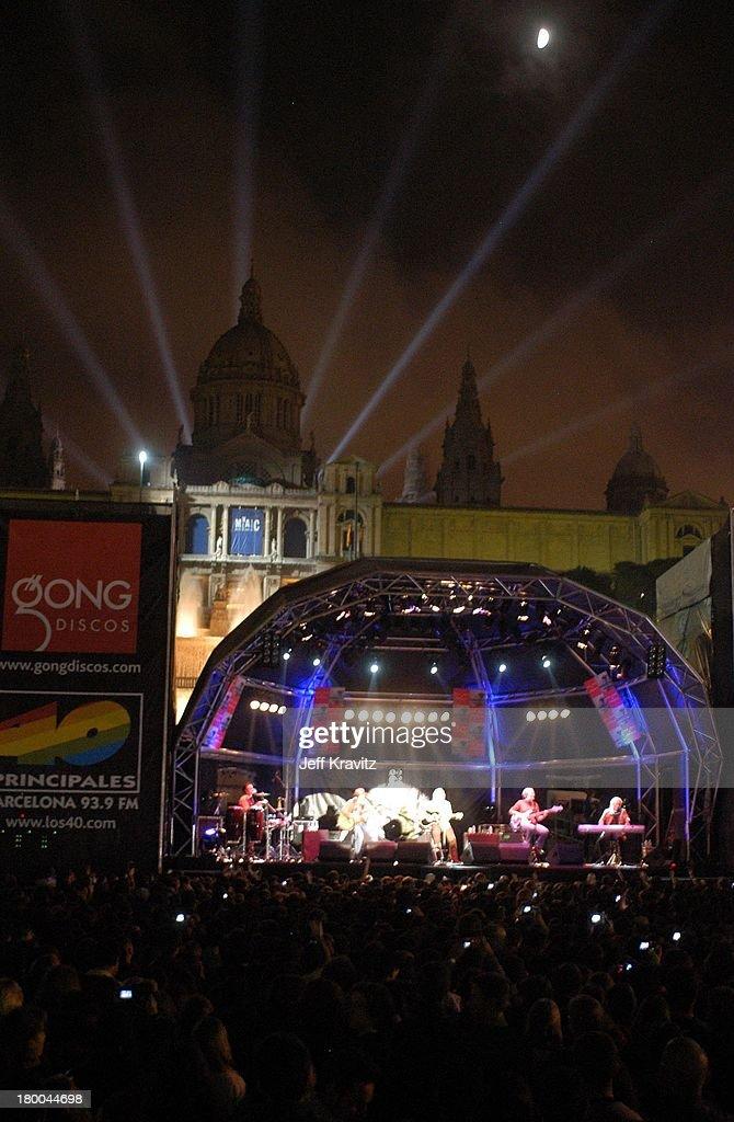 Bon Jovi during Bon Jovi Free Concert at Montjuic Magic Fountains in