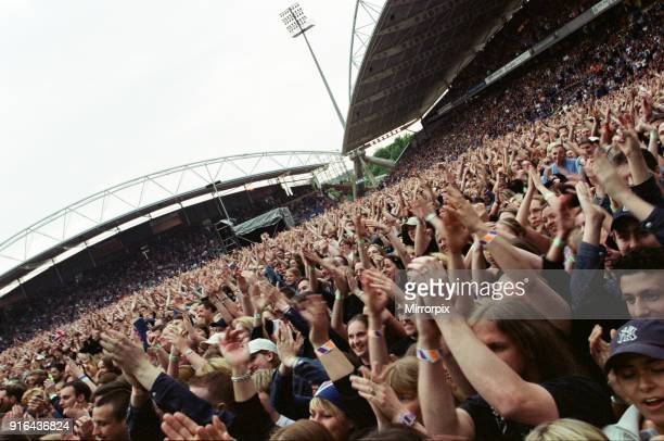 Bon Jovi in concert held at the McAlpine Stadium, Huddersfield, 13th June 2001.