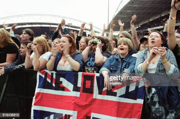 Bon Jovi in concert held at the McAlpine Stadium Huddersfield 13th June 2001