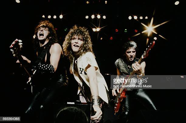 Bon Jovi Jon Bon Jovi Richie Sambora and Hugh McDonald live at Nakano Sun Plaza Tokyo April 20 1985