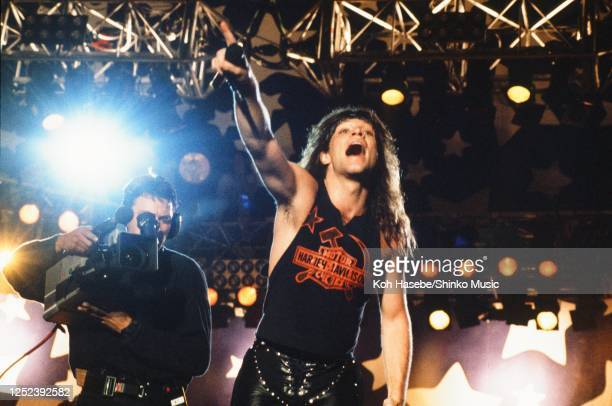 Bon Jovi live Moscow Music Peace Festival 1989 at Luzhniki Stadium Moscow USSR 12th and 13th August 1989 Jon Bon Jovi