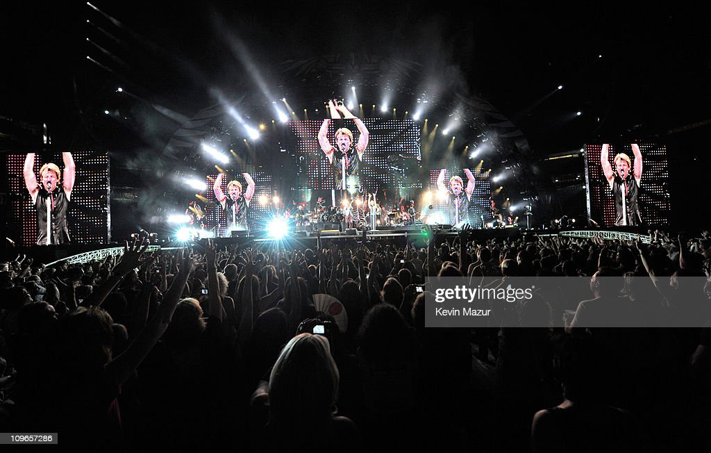 Bon Jovi perform during 'The Circle World Tour' at New Meadowlands Stadium on May 26, 2010 in East Rutherford, New Jersey.