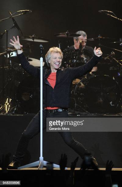 Bon Jovi performs at Amway Center on April 18 2018 in Orlando Florida