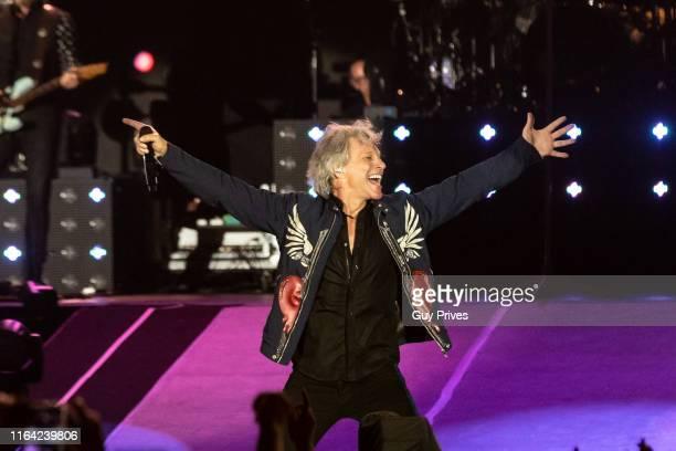 Bon Jovi performs at Hayarkon Park on July 25 2019 in Tel Aviv Israel