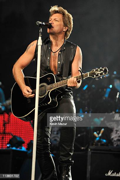 Bon Jovi performs at Nassau Veterans Memorial Coliseum on May 6 2011 in Uniondale New York