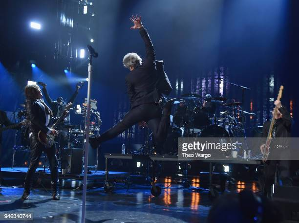 Bon Jovi perfroms during the 33rd Annual Rock Roll Hall of Fame Induction Ceremony at Public Auditorium on April 14 2018 in Cleveland Ohio