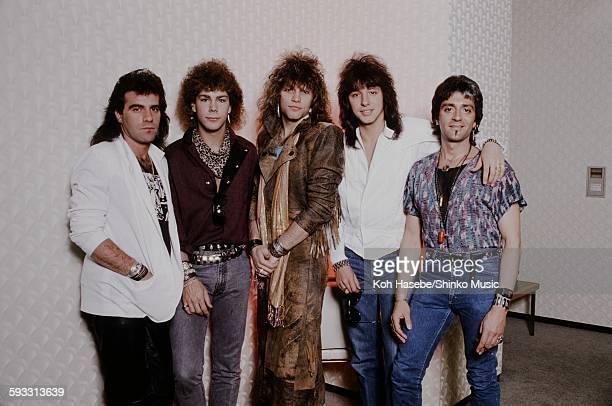 Bon Jovi photo session in Nakano Sun Plaza dressing room