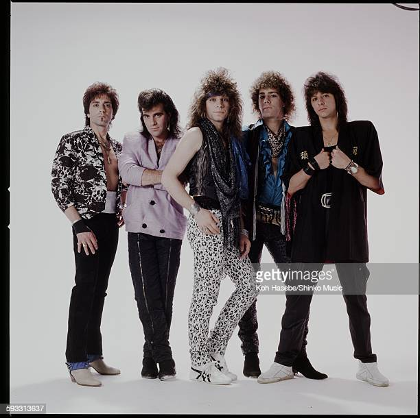 Bon Jovi studio photo session in Tokyo April 1985