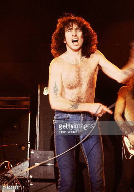 AC/DC 1976 Bon Scott during AC/DC File Photos in London United Kingdom