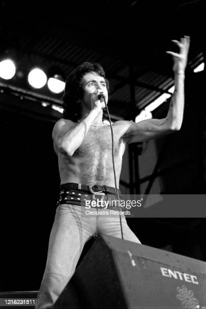 Bon Scott from the rock band AC/DC Live at Reading Festival In Reading, UK August 29, 1976
