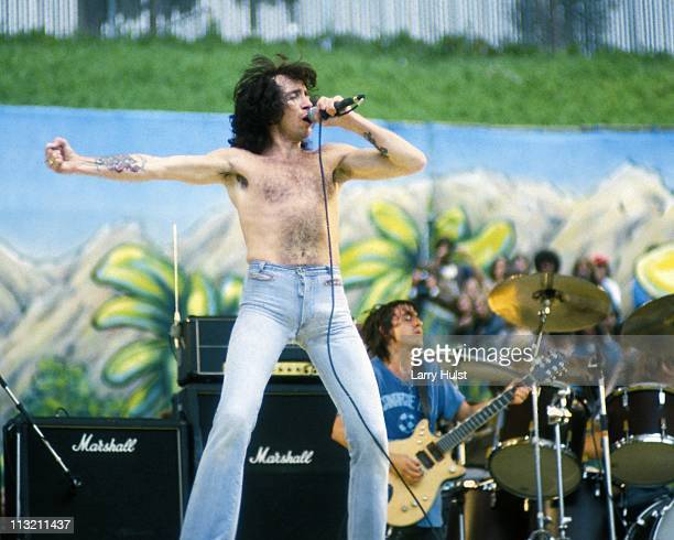 Bon Scott with AC DC performing at the Oakland Coliseum in Oakland California on July 21 1979