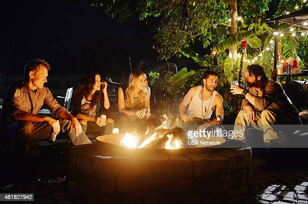 GRACELAND 'Bon Voyage' Episode 307 Pictured Tom Schanley as Sheriff Windgate Vanessa Ferlito as Charlie DeMarco Brit Morgan as Amber Adam Thayer as...
