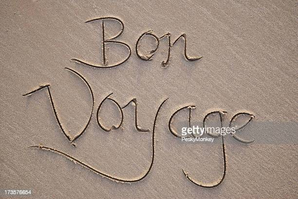 Bon Voyage Message in the Sand