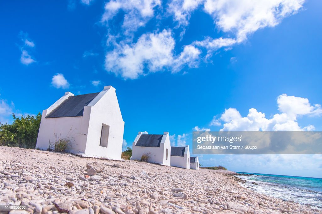 Bonaire Slave Huts : ストックフォト
