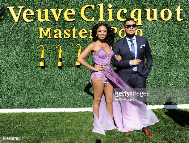 Bonang Matheba and AKA during the 2017 Veuve Clicquot Masters Polo at the Val de Vie Estate on March 04 2017 in Cape Town South Africa The popular...