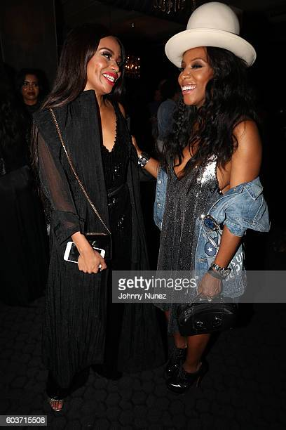 Bonang Matheba and June Ambrose attend Fashion Bomb Daily Cocktail at STK on September 12 2016 in New York City