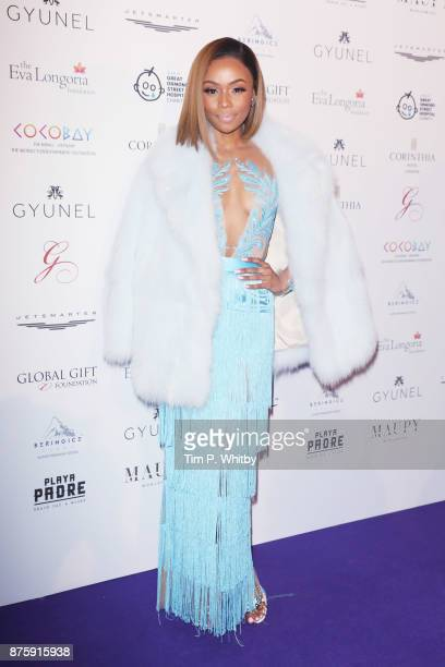 Bonang Matheba attends The Global Gift Gala London held at Corinthia Hotel London on November 18 2017 in London England