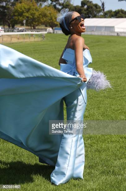 Bonang Matheba during the 157th L'Ormarins Queen's Plate Festival at Kenilworth Racecourse on January 06 2018 in Cape Town South Africa The event...