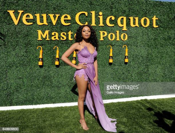 Bonang Matheba during the 2017 Veuve Clicquot Masters Polo at the Val de Vie Estate on March 04 2017 in Cape Town South Africa The popular polo and...