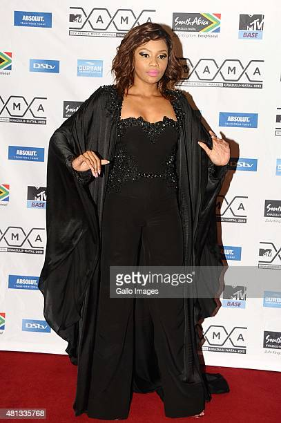 Bonang Matheba seen on the red carpet at the 2015 MTV Africa Music Awards on July 182015 at the Durban International Conference Centre in DurbanSouth...