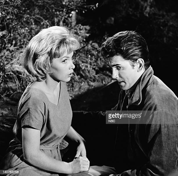 Bonanza Silent Thunder Episode 13 Pictured Stella Stevens as Ann 'Annie' Croft Michael Landon as Joseph 'Little Joe' Cartwright Photo by NBC/NBCU...