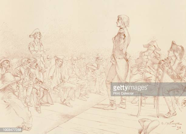 Bonaparte Addressing a Jacobin Club in Corsica' circa 1789 Napoleon Bonaparte making a speech at a meeting of the Society of the Jacobins Friends of...