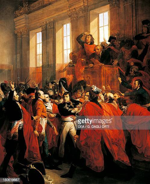 Bonaparte and the Council of Five Hundred at St Cloud 10th November 1799 painting by Francois Bouchot oil on canvas 401x421 cm French Revolution...