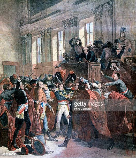Bonaparte and the Council of Five Hundred at St Cloud 10th November 1799 The coup d'etat of 18 Brumaire in which General Napoleon Bonaparte overthrew...