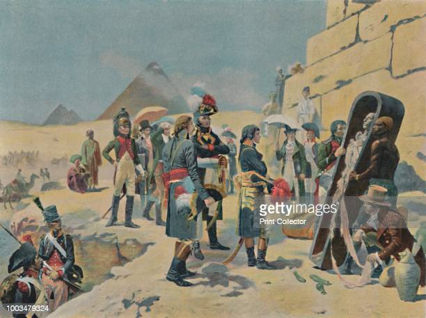 Bonaparte With The Savants in Egypt' circa 1801 Typogravure after the painting by Maurice Orange From Life of Napoleon Bonaparte Volume II by William...