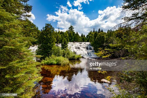 bond falls - named wilderness area stock pictures, royalty-free photos & images