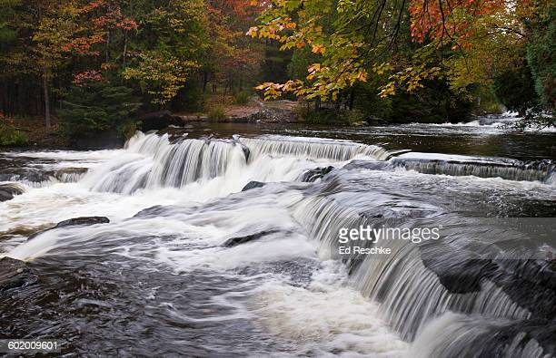 bond falls scenic site, autumn, michigan - ed reschke photography stock photos and pictures