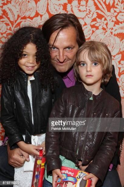 Bond Feltes Luca Babini and Brando Babini attend LA MER Screening of Disneynature's OCEANS at Crosby Street Hotel on April 20 2010 in New York City