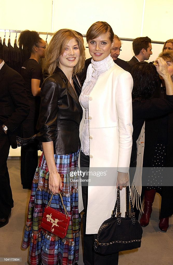 Bond Girl Rosamund Pike And Model Heidi Klum, Russell Crowe Oscar Nomination Cocktail & Dinner Party, New Giorgio Armani Shop, Bond Street & Supper & Hakkasan, London.