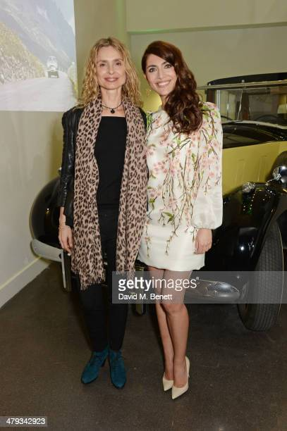 Bond girls Maryam d'Abo and Caterina Murino attend the 'Bond In Motion' photocall at the London Film Museum on March 18 2014 in London England