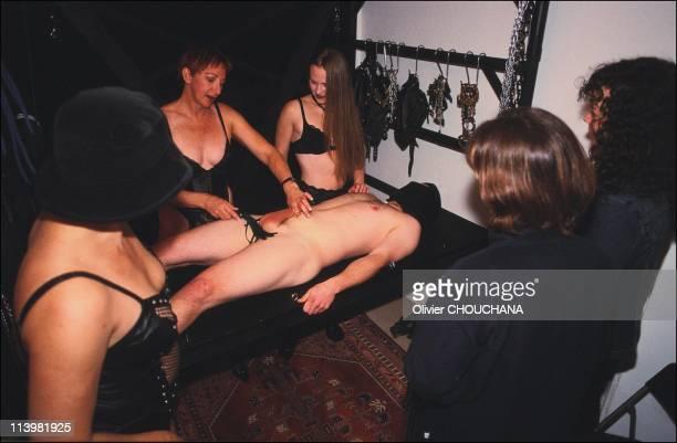 Bondage school in Sydney Australia In 2005Mistress J demonstrates the art of genital bondage
