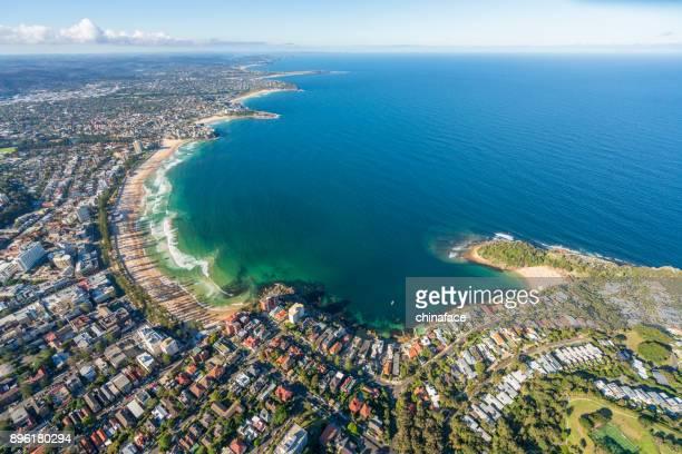 Bondi Beach, aerial view. Sydney