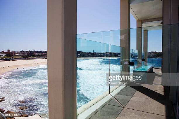 Bondi Beach from Icebergs Club.
