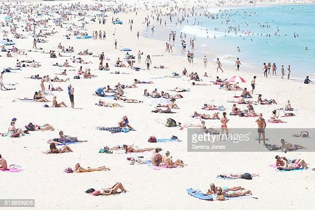 Bondi Beach on a 40 Degree day