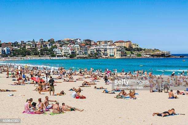 Bondi Beach sun seekers