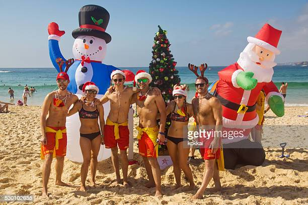 Bondi Beach - Surf Lifesavers Celebrate Christmas