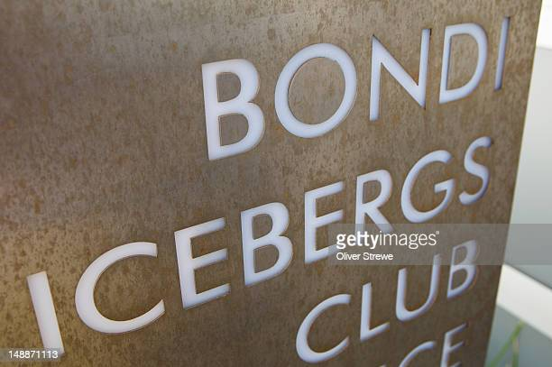 Bondi Icebergs Club sign.
