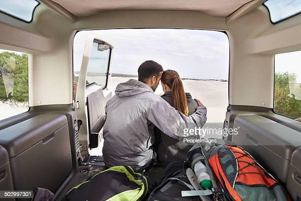 Bonding on their roadtrip