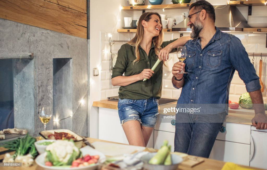 Bonding over date night : Stock Photo