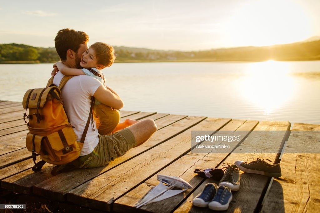 Bonding with my son : Stock Photo
