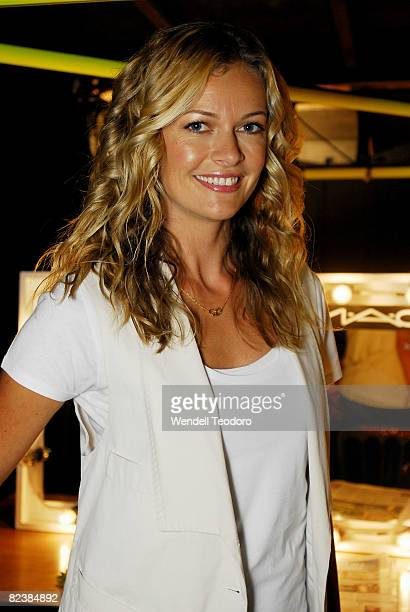 Bonds ambassador Sarah Murdoch backstage ahead of the S/S 2008/09: in the Hot In The City Lingerie show, at the Rosemount Sydney Fashion Festival...