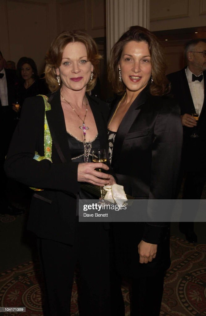 Bond's Moneypenny Samantha Bond With Barbara Broccoli Producer Of Bond (which Won Special Award), The Evening Standard Film Awards, At The Savoy Hotel In London