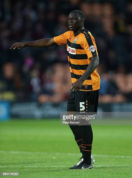 Bondz N'Gala of Barnet in action during the Sky Bet League Two match between Barnet and Northampton Town at The Hive on August 18 2015 in Barnet...