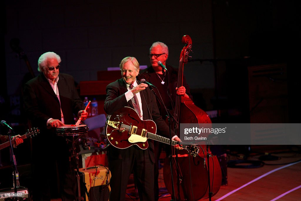 T- Bone Burnett performs during the Tribute to Cowboy Jack Clement at War Memorial Auditorium on January 30, 2013 in Nashville, Tennessee.