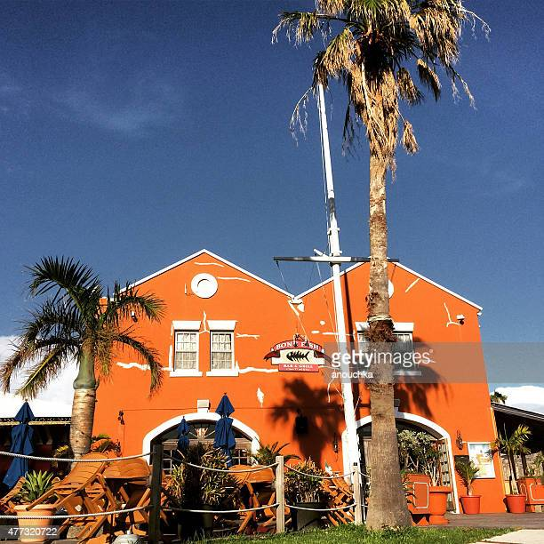 bone fish restaurant, king's wharf, bermuda - bone fish stock photos and pictures